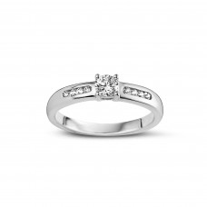 You & Me solitair wit goud briljant - 608968